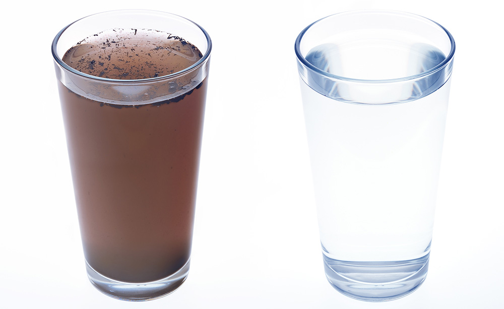 image demonstrating difference in water quality